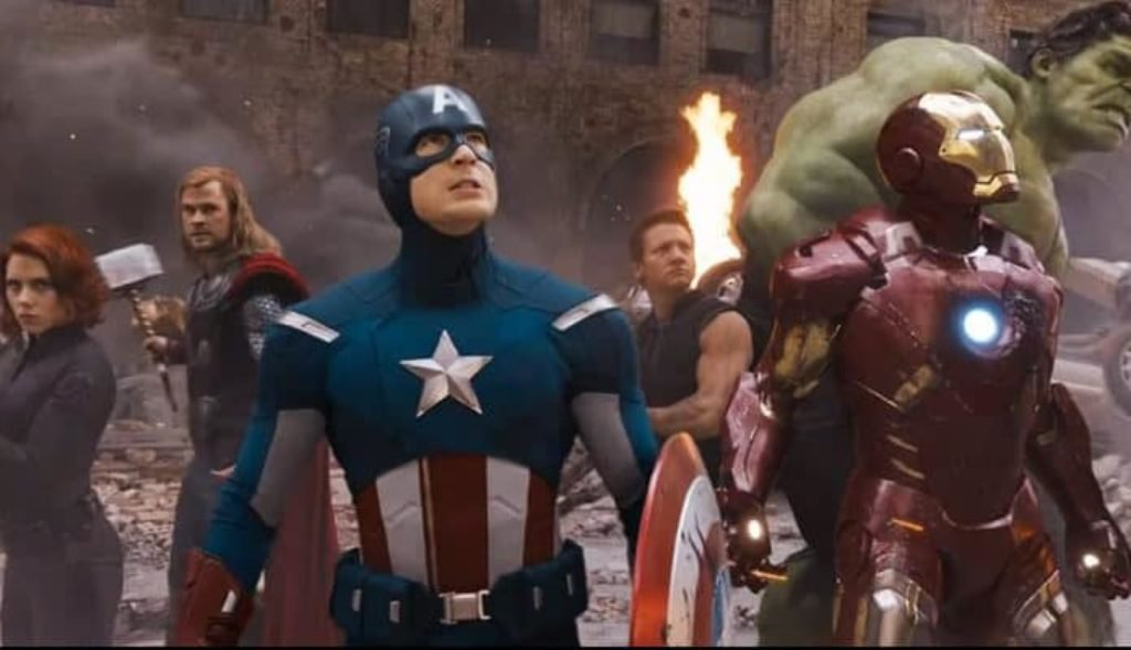 Captain America, Flash, Thor, and Black Widow