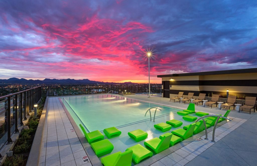 Rooftop pool at The Hub