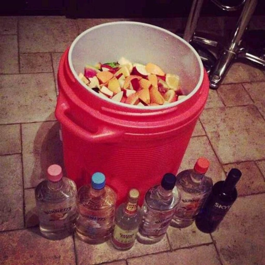 A giant bucket of jungle juice