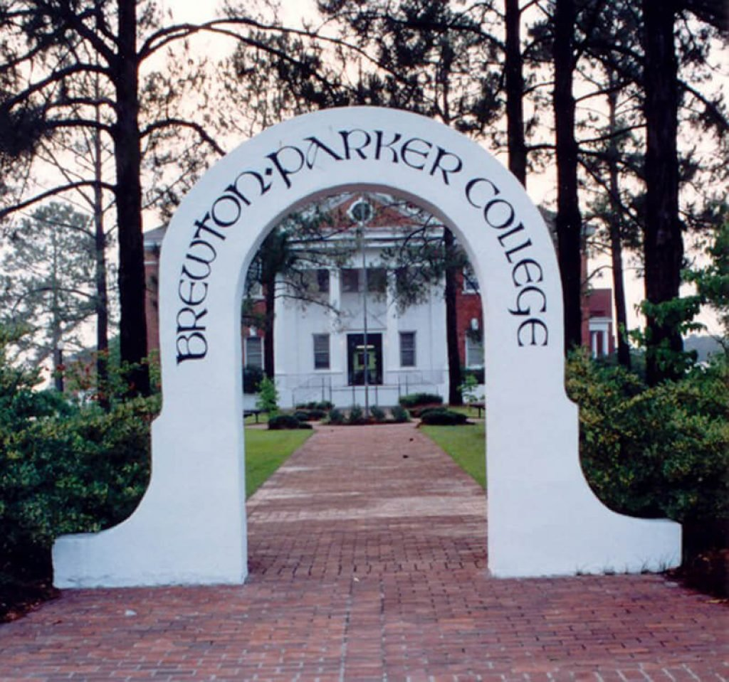 Front arch of Brewton-Parker College
