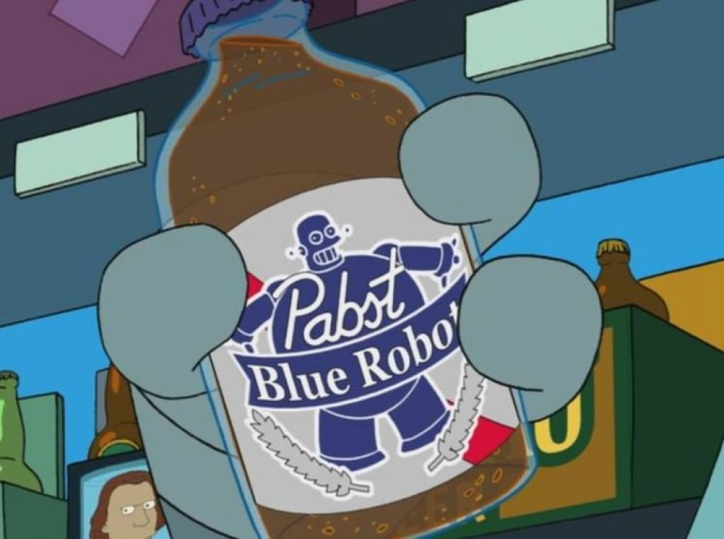 Pabst Blue Robot beer from Futurama