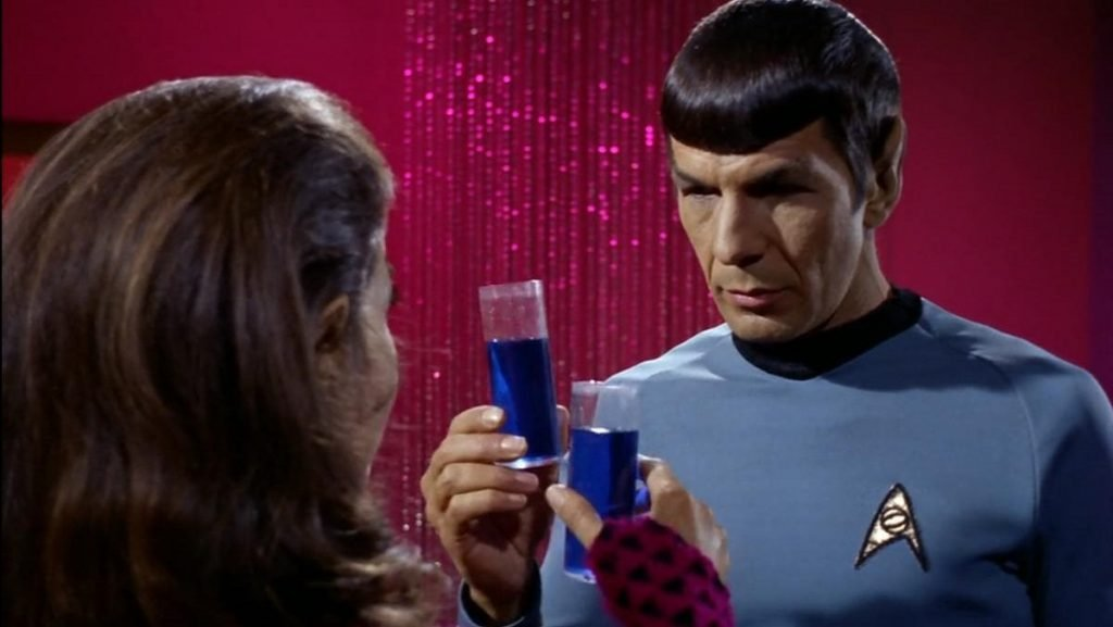 Spock about to drink romulan ale recipe