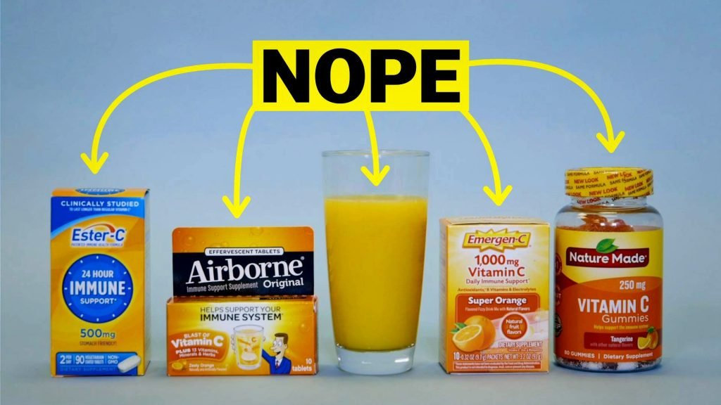 Vitamin C, in all forms, does not cure the common cold