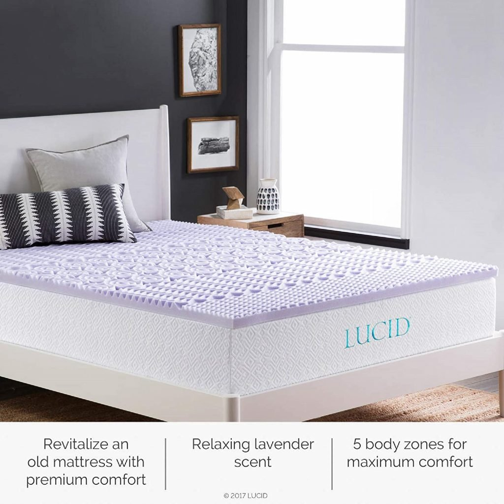 A lavendar scented mattress topper