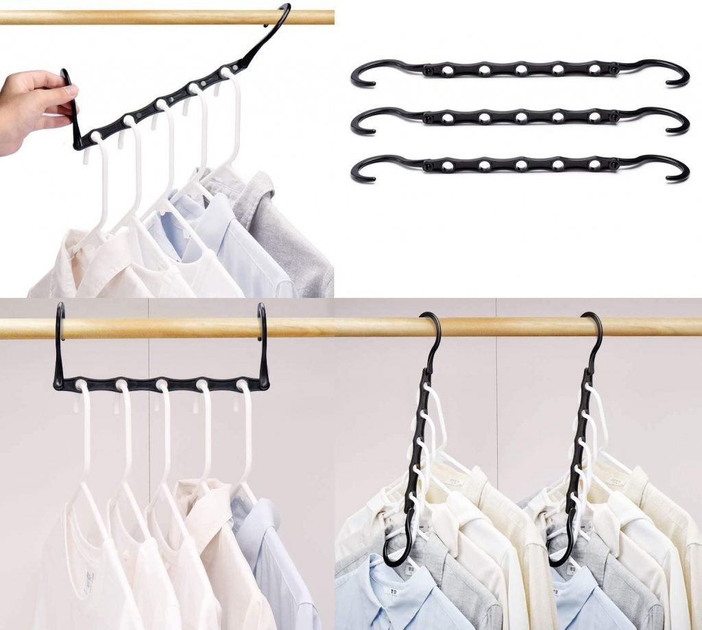 Magic space saving hangers