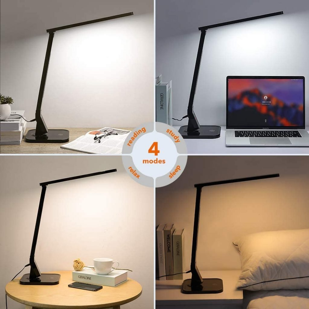 A reading lamp with 4 light-modes