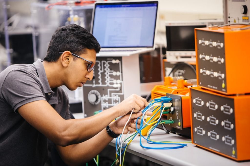 Electrical Engineer working on a project