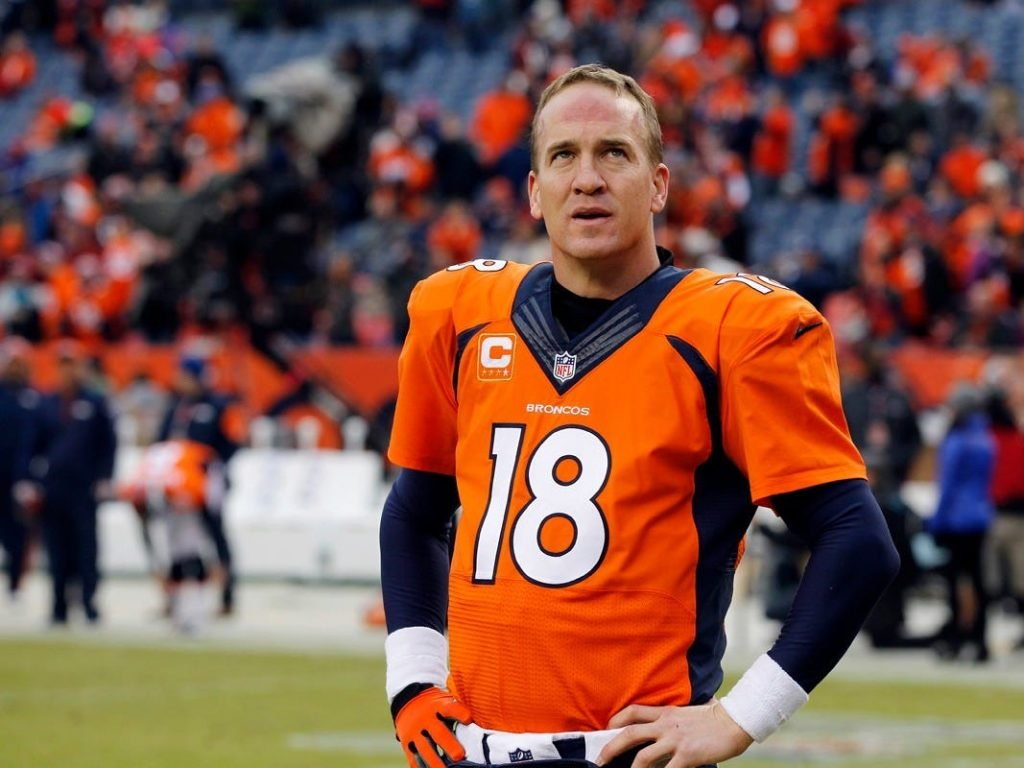 Peyton Manning on the football field
