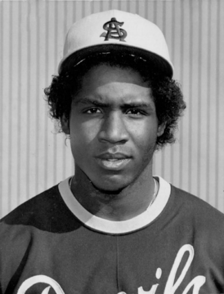 Young Barry Bonds wearing Arizona State gear