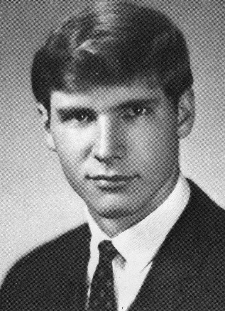 Harrison Ford's college portrait