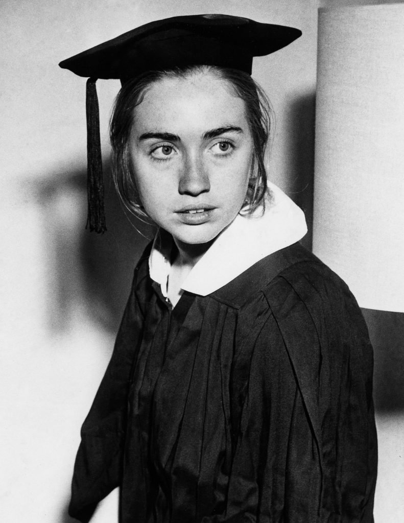 Hillary Clinton graduating from Wellesley College