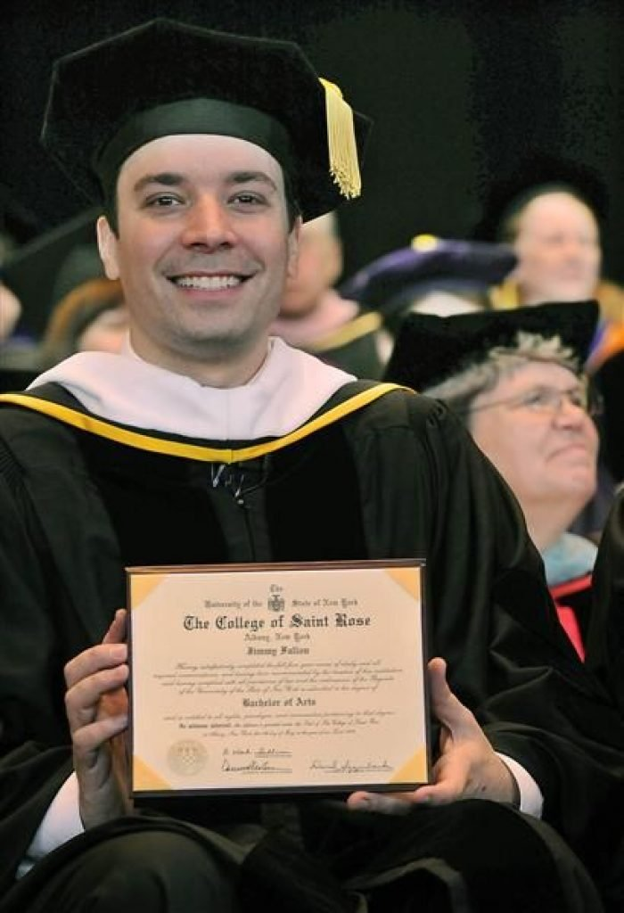 Jimmy Fallon Graduating From The College of Saint Rose