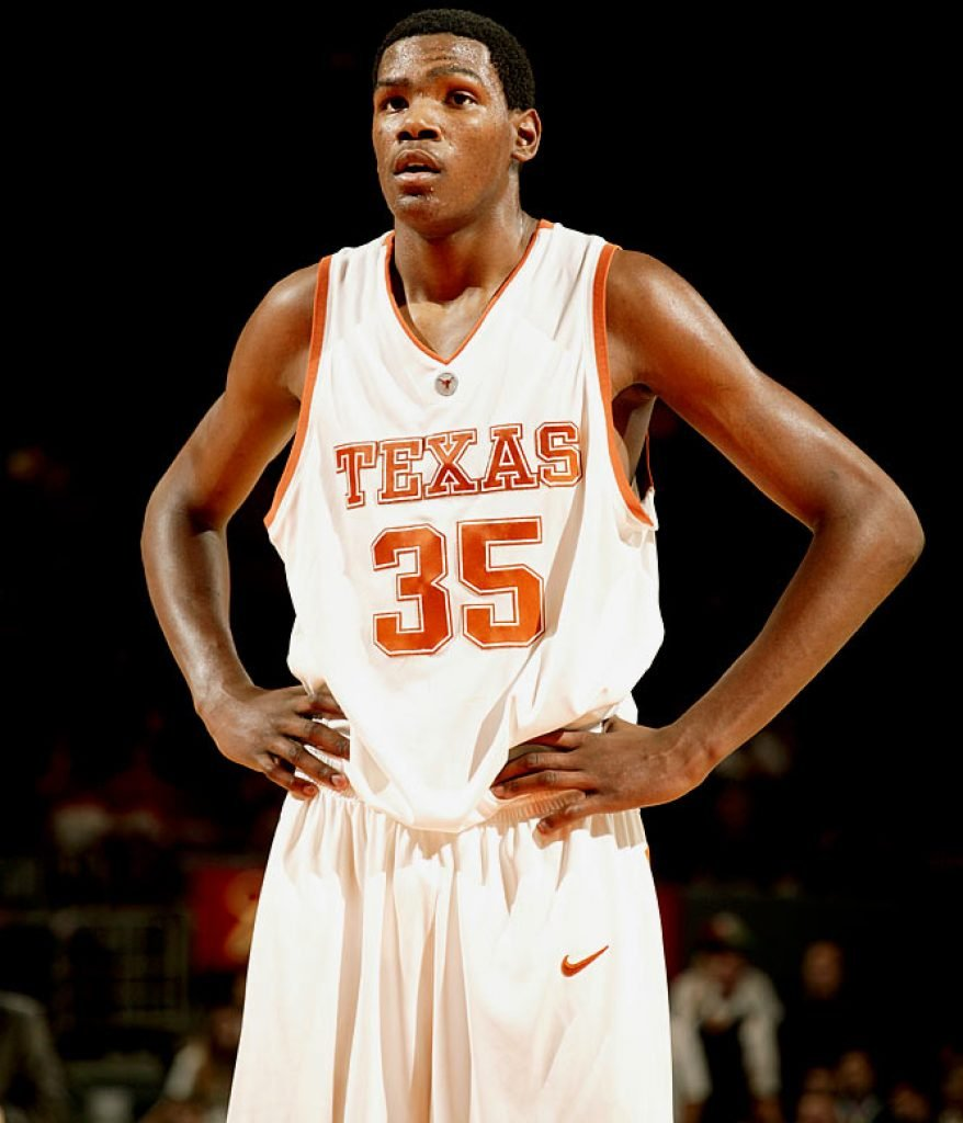 Kevin Durant playing for the University of Texas