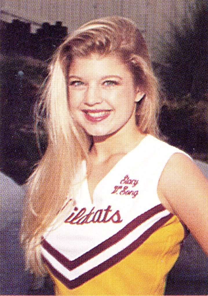 Fergie as a cheerleader