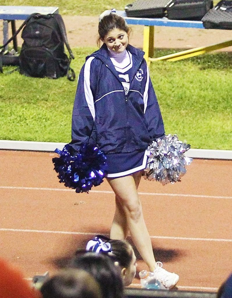Kylie Jenner cheerleading