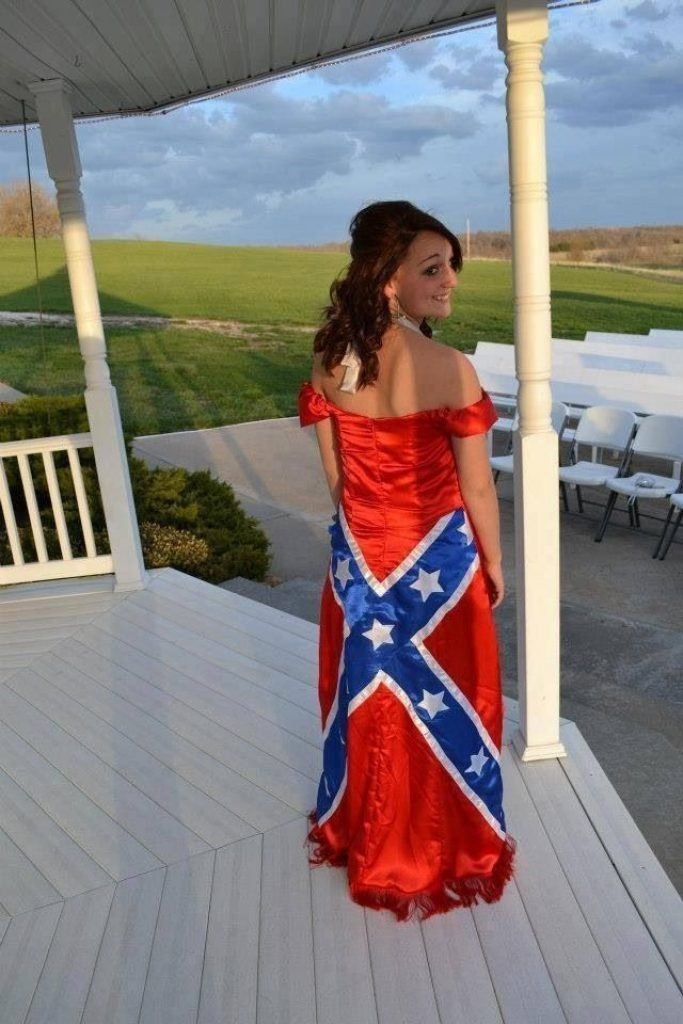 Confederate flag dress