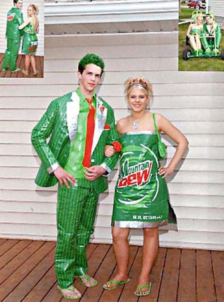 Mountain Dew themed dresses