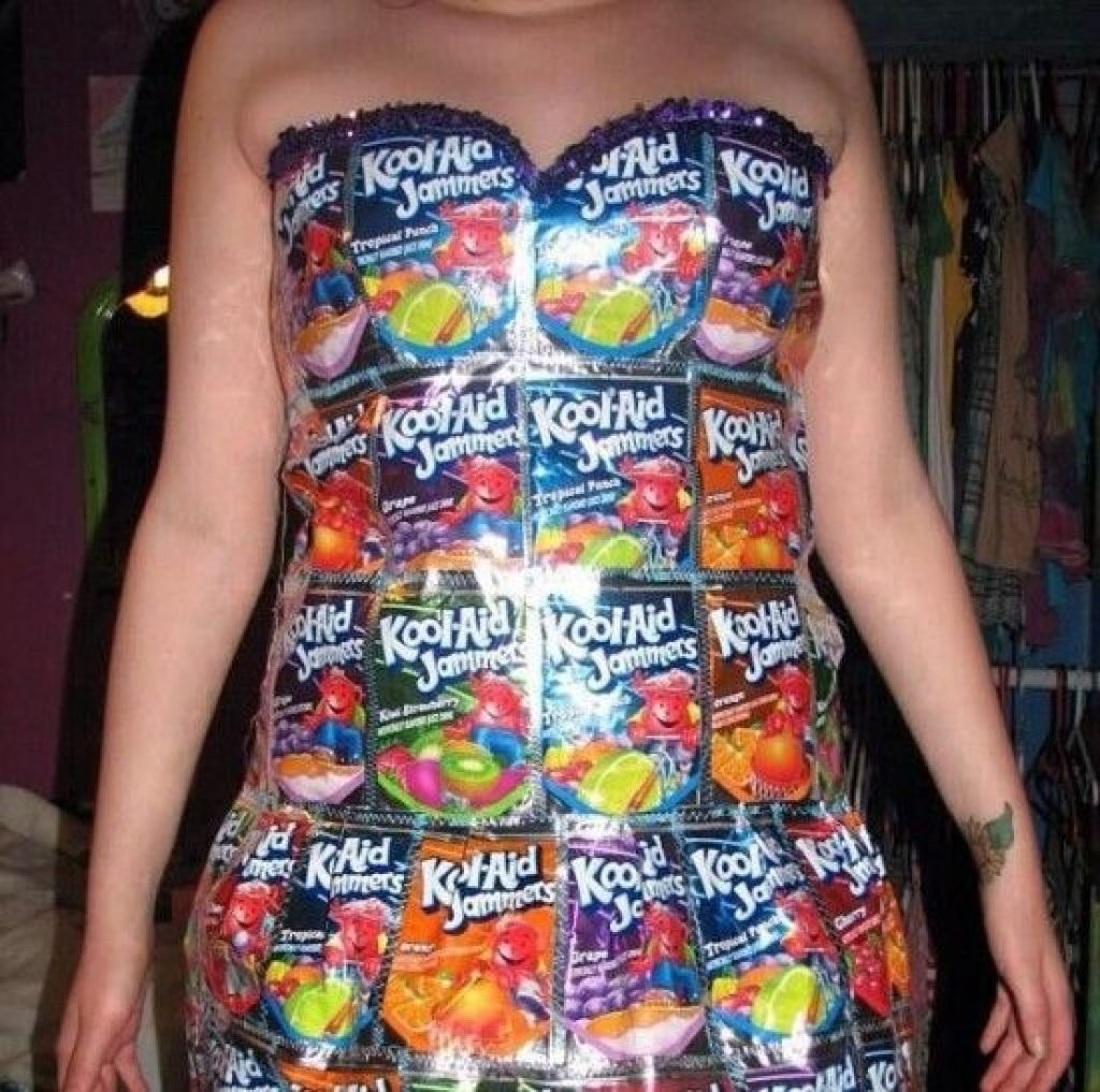 Dress made out of Kool Aid