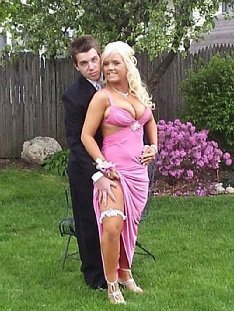 Prom picture with garter