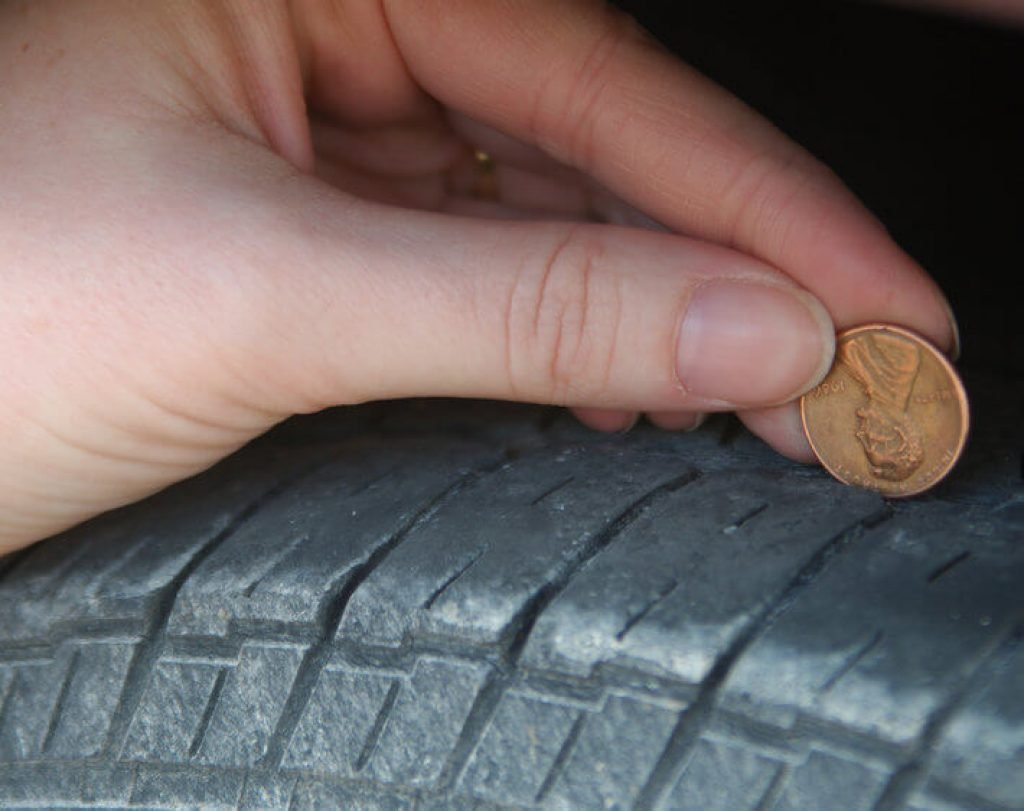 penny tire trick