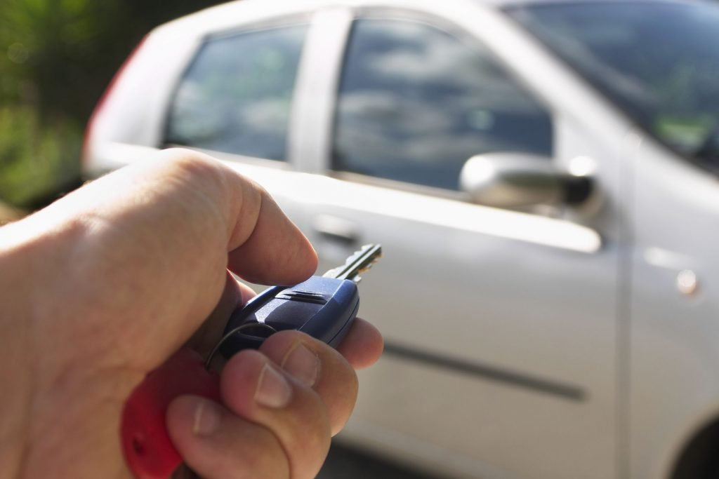Finding car with key fob
